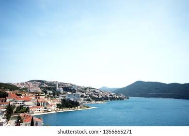 The sea back ground city of Split world heritage