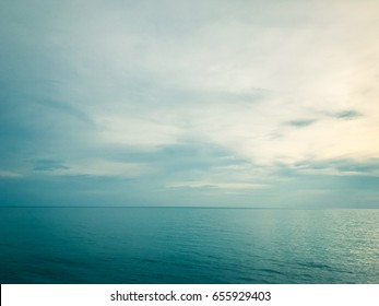 Sea Background Calm Ocean Explore with Line Nature aqua landscape paradise and blue sky cloud horizon at summer wallpaper surface wave texture. Exotic water Tropical relax. Travel