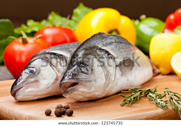 Sea Bass with the vegetables  and lemon