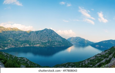 sea bay between the mountains, Montenegro