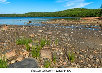 Sea bay near the Holy Trinity Anzersky skete of the Solovki monastery on the Anzersky island, the Solovki islands, Arkhangelsk region, Russia