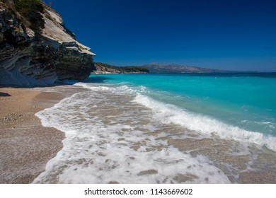 Sea beach in Albania, near Ksamil