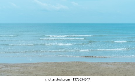 Sea and beach with blue sky