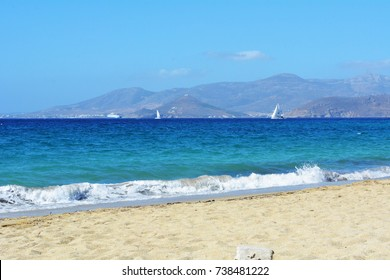 The sea and beach in Greece
