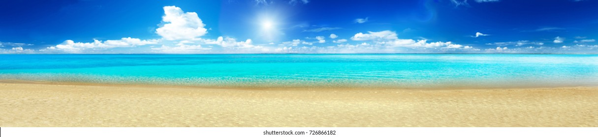 Sea beach panorama