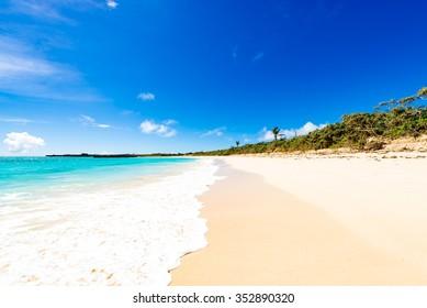 Sea, beach, seascape. Okinawa, Japan.