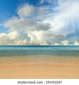 Sea beach in summer