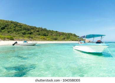 Sea and beach in summer with a holiday Samae San Chonburi Thailand