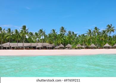 Sea beach at tropical resort