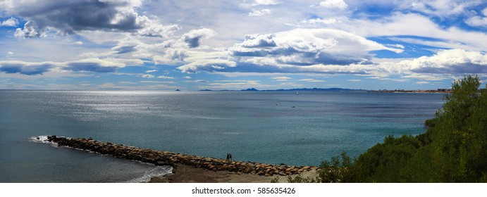 The sea and the beautiful clouds, Spain, Costa Blanca
