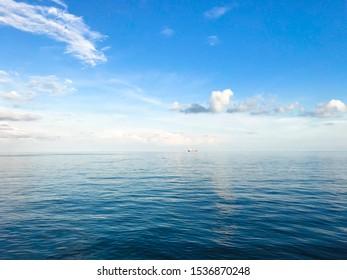 sea in blue sky background