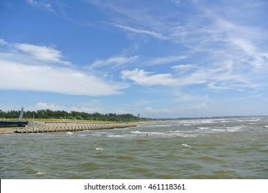 Sea and blue sky in Taiwan