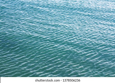 Sea blue water background texture.