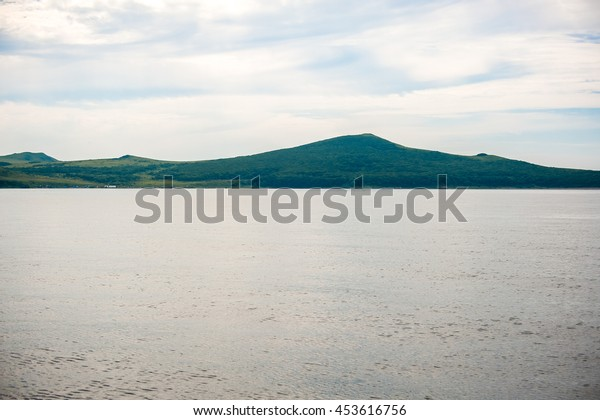 Sea, boat, island