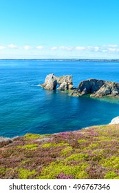 Sea at Camaret-sur-Mer, Presque ile de crozon, Brittany, France