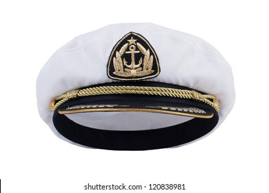 Sea Captain's cap on a white background