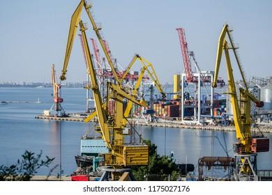 Sea cargo port.