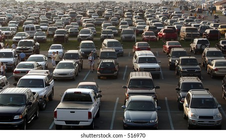 A sea of cars.. all copyright material removed