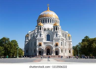 Sea Cathedral of St. Nicholas in Kronstadt, St. Petersburg, Russia