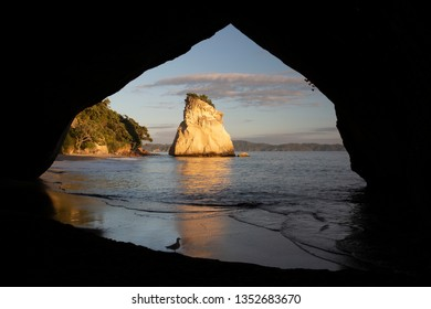 Sea cave frames view, Cathedral Cove, Coromandel, New Zealand