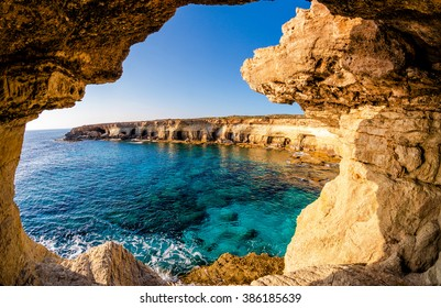 Sea caves panorama (Ayia Napa, Cyprus)