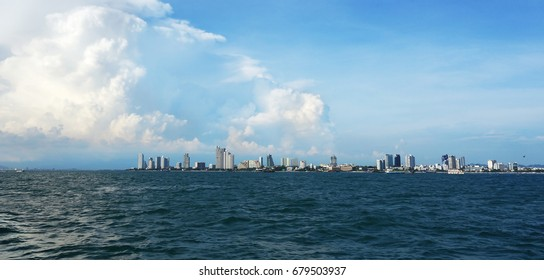 the sea and the city. overlooking the city of Pattaya
