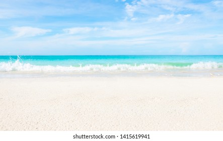 Sea and clear water beach have a holiday summer relaxing and travel bright sky koh lipe thailand