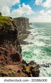 Sea cliffs in Orkney, Scotland, UK.