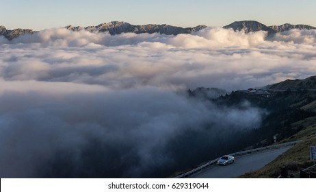 sea of clouds on the mountain