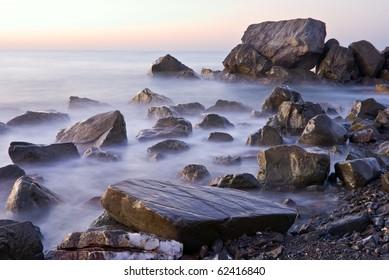 sea coast at the early morning