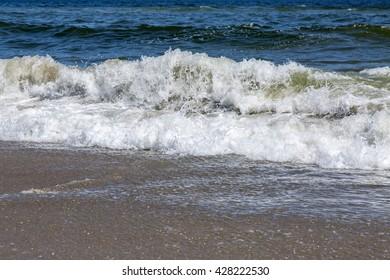 Sea coast. Line of a surf.
