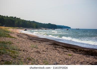 Sea coast at Naissaar island, Estonia