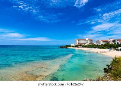 Sea, coast, shore, landscape. Okinawa, Japan, Asia.