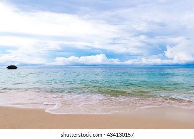 Sea, coast, shore, landscape, seascape. Okinawa, Japan, Asia.