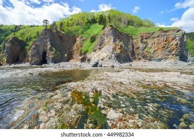 Sea coast, south of Sakhalin Island, Russia.