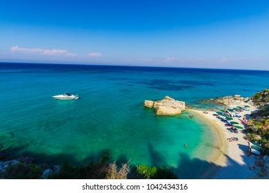 Sea coastline view in Zakynthos island,Greece