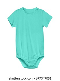 Sea color baby child rompers with empty space isolated on white