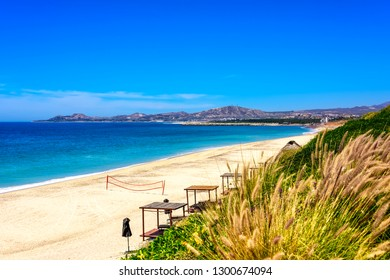 Sea of Cortex, tropical beaches and mountains in Los Cabos, Mexico