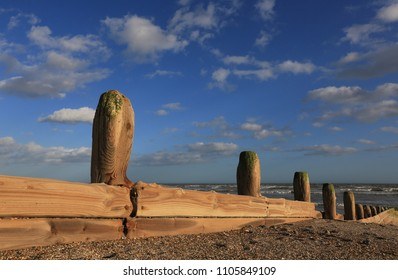 Sea Defence at Worthing, West Sussex, UK