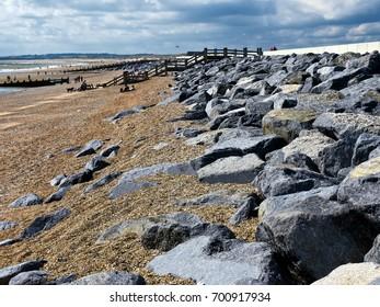 Sea Defences, Camber Sands, UK