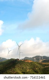 The sea dials high, the wind turbine production of green energy