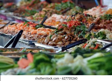 Sea food on thai market