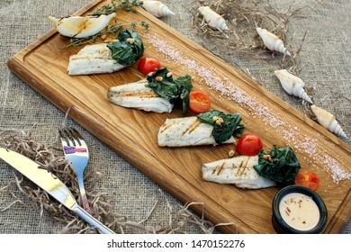 sea food restaurant meal fish
