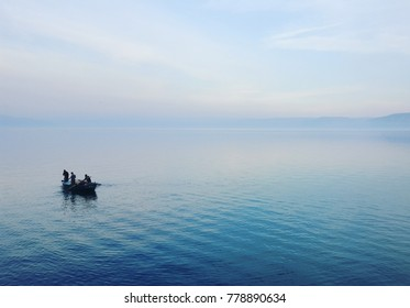 The Sea of Galilee early in the morning.