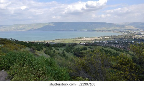 Sea of Galilee, the Golan Heights, Israel