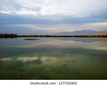 Sea of Galilee, Israel. Hebrew: Sea of Galilee - Kineret, Kinneret or Kinnereth. Freshwater lake in Israel, beautiful landscape