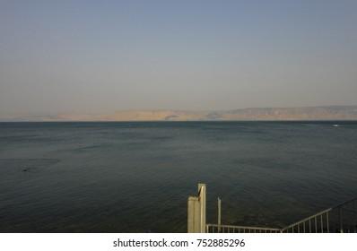 Sea of Galilee. Tiberias -  Israeli city on the western shore of the Sea of Galilee. Middle East