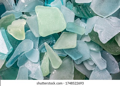 Sea Glass Mosaic, patterns made from Ocean glass, its a lifestyle background made with natural colours of blue, green, brown and white, hand made feeling like handcraft.