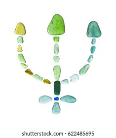 sea glass mosaic - planet Neptune astrological symbol