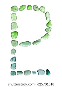 sea glass mosaic - Pluto  astrological symbol on white